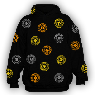 BLACKWALLSTREET GOLD/YELLOW/SILVER LOGOS - BLACK