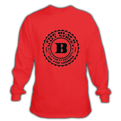 BLACKWALLSTREET BLACK BWS LOGO LONGSLEEVE - RED