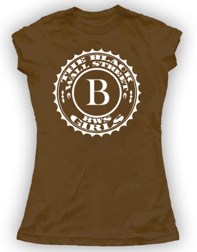 BLACKWALLSTREET WHITE BWS LOGO SHIRT - BROWN