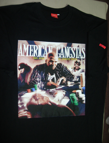 THE GAME AMERICAN GANGSTAS T-SHIRT FRONT COVER - BLACK