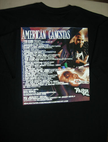 THE GAME AMERICAN GANGSTAS T-SHIRT BACK COVER - BLACK