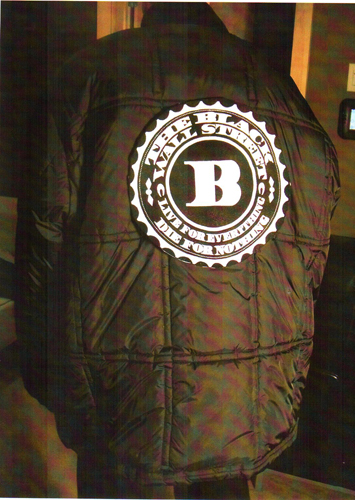 BLACKWALLSTREET WHITE LOGO QUILTED JACKET - BLACK