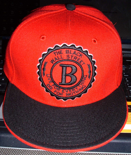 BLACKWALLSTREET BLACK LOGO BASEBALL CAP - RED