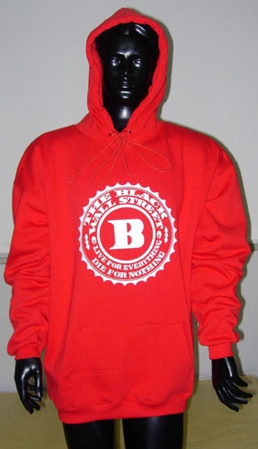 BLACKWALLSTREET WHITE LOGO HOODIE - RED