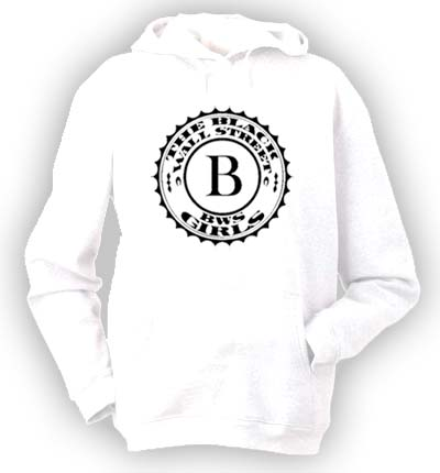 BLACKWALLSTREET BLACK LOGO HOODIE - WHITE