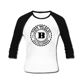 BLACKWALLSTREET BWS LONGSLEEVE - WHITE BODY / BLACK SLEEVES